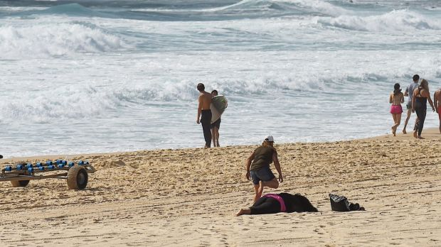 Tui's mother collapsed on Maroubra Beach during the search for the 14-year-old boy.