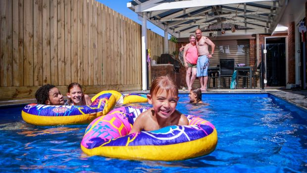 Anna and Peter Tesoriero went over and above safety requirements to ensure their backyard pool was safe for their ...