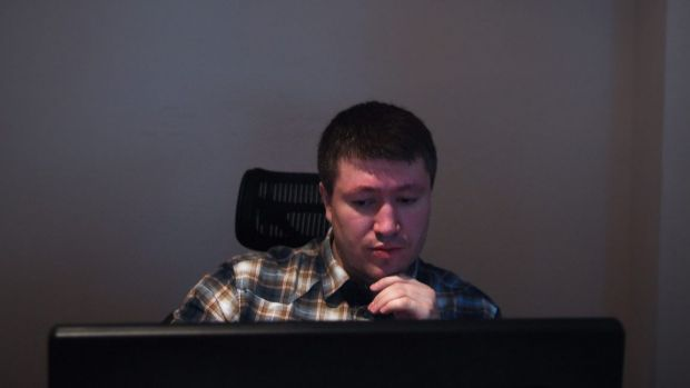 Dmitri Artimovich in his current office in Moscow.
