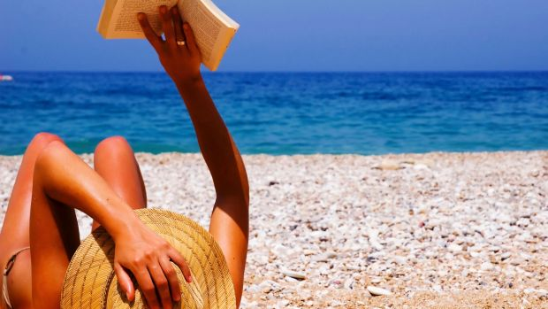 An ideal day at the beach – with a great read in hand.
