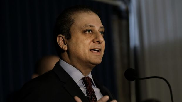 Preet Bharara, US attorney for the Southern District of New York.