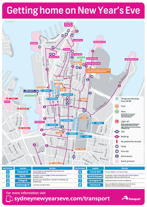 City Of Sydney Have Created A Downloadable Map Of Transport Options