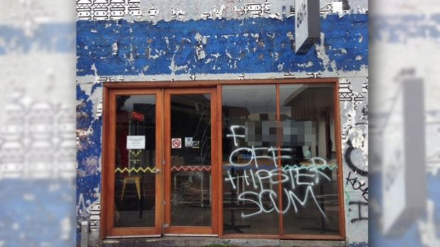8-Bit Burgers at Footscray was vandalised at the weekend.