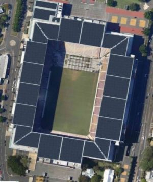 Solar panels on Suncorp Stadium