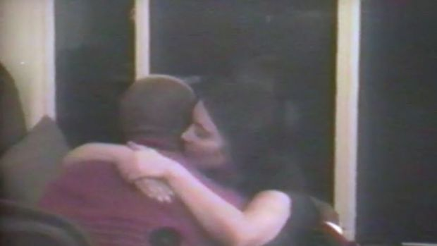 The video shows a number of clips of Kimye being affectionate to one another.