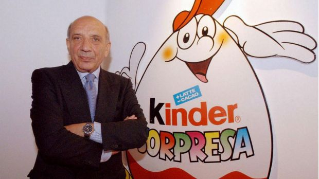 William Salice helped to create the hugely popular Kinder Surprise chocolate eggs for children.