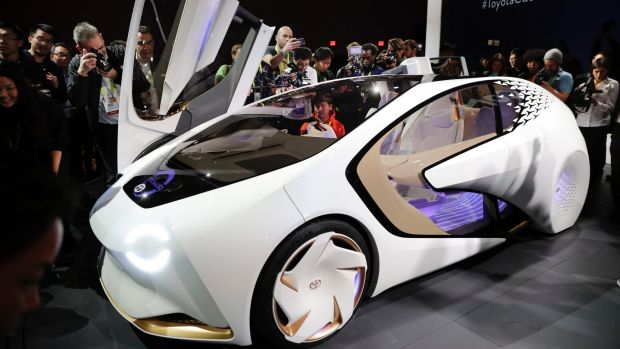 The Toyota Concept-i at CES International in Las Vegas.