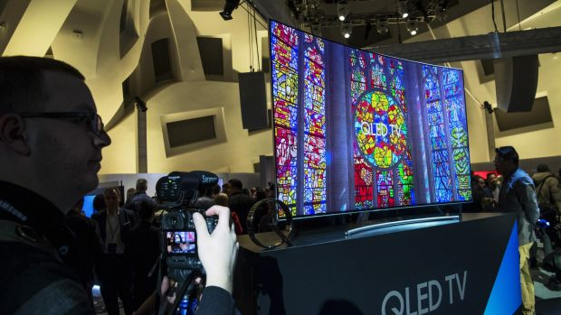 "Samsung abandons the SUHD branding at CEES 2017, calling its new quantum dot LED range ""QLED TV""."