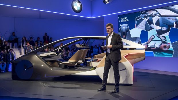 Carmakers are considering the ability to push content such as video in front of passengers, says BMW's Klaus Froehlich.