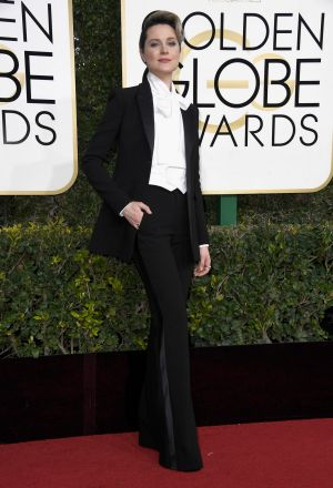 Evan Rachel Wood attends the 74th Annual Golden Globe Awards.
