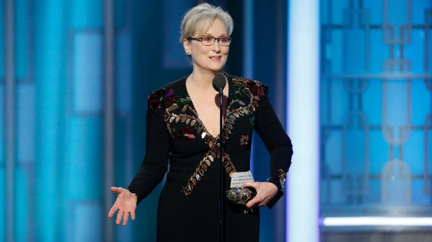 """There was one performance this year that stunned me - it sank its hooks in my heart,"" Meryl Streep said as she accepted ..."