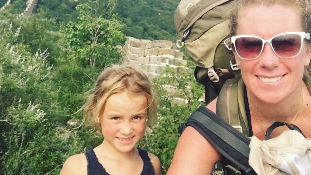 Evie Farrell has been travelling aroun Asia with her six year old daughter Emmie.