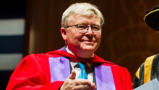 Former Australian prime minister Kevin Rudd has advice on how to manage the new US President.