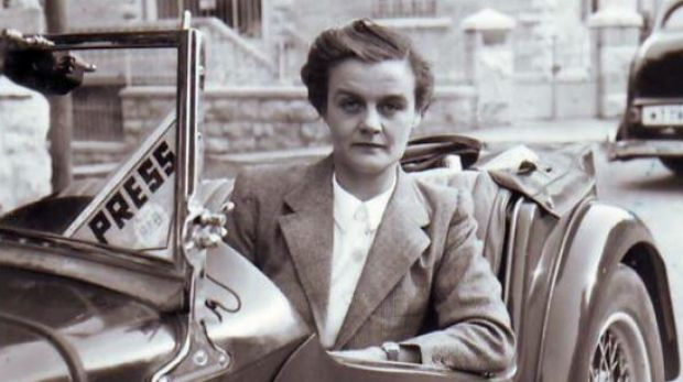 A photo of Clare Hollingworth from her biography <i>Of Fortunes and War</i>.