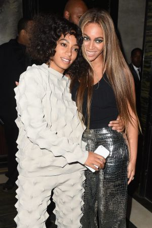 Solange Knowles and Beyonce attend the Balmain and Olivier Rousteing after the Met Gala Celebration on May 2, 2016 in ...