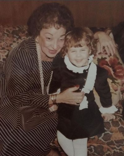 """Amy Schumer shared this throwback photo to Instagram. """"#tbt me with my great grandma Estelle Schumer. She was a ..."""