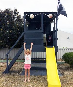 Warren Sturrock's pirate cubby house for his daughter (pictured).