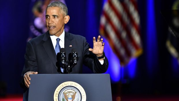 US President Barack Obama delivers his farewell address in Chicago this week.