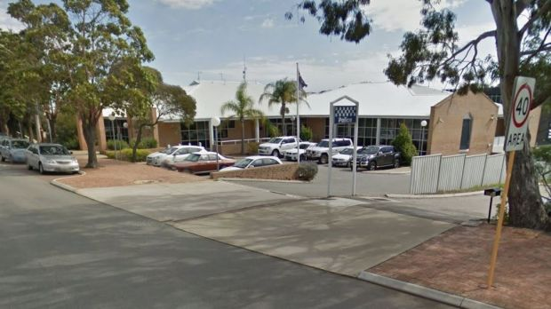 A man has been charged after starting a fire outside Armadale Police Station.