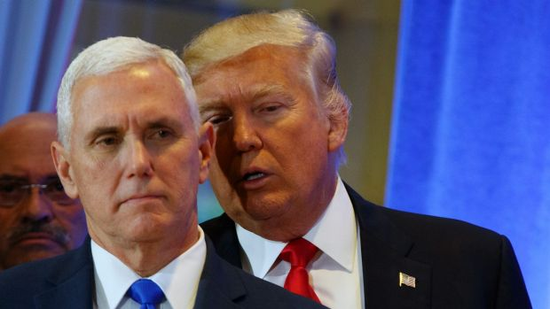 US Vice President Mike Pence and President Donald Trump.