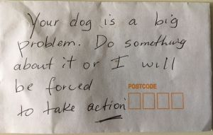 An anonymous Erskineville resident scrawled this third – and apparently final – warning  before taping it tightly to ...