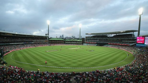 Packed house: The SCG at capacity.