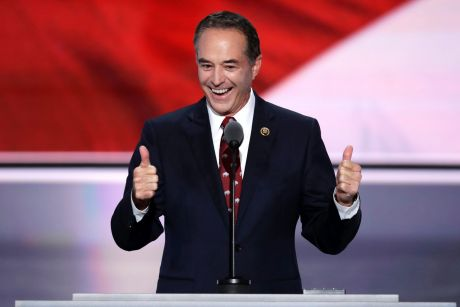 Chris Collins, pictured nominating Donald Trump as the Republican presidential candidate in 2016, lost $22 million on ...