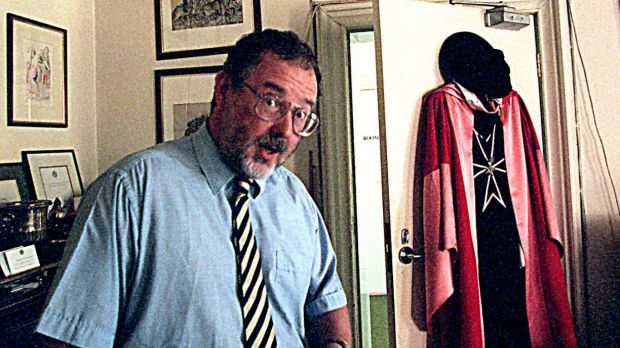 Richard Divall in his apartment in 1997.