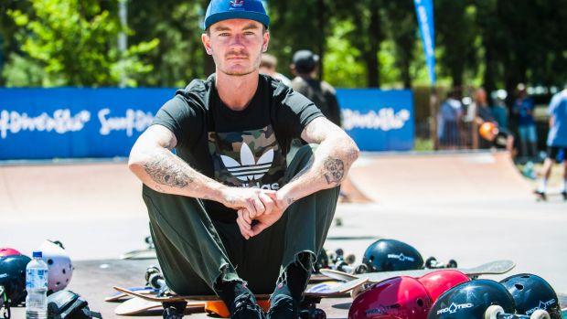 Jack Fardell at Belconnen Skate Park last week.