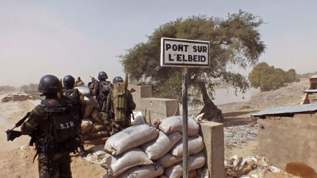 A guard post on Elbeid bridge that separates northern Cameroon form Nigeria's Borno state.
