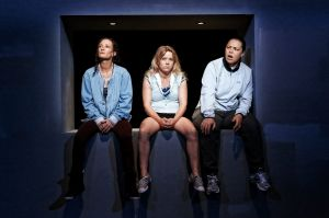 The cast of  Shit (from left): Peta Brady (Sam), Nicci Wilks (Billy) and Sarah Ward (Bobby).