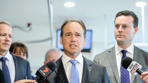Minister for Health Greg Hunt.