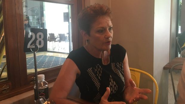 Pauline Hanson speaking with WAtoday at a cafe in East Perth last month.