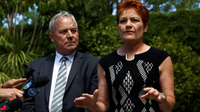Pauline Hanson and WA One Nation leader Colin Tincknell.