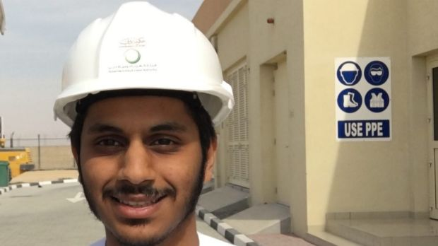 Ali Alzaabi, an engineer at the Mohammed bin Rashid Al Maktoum Solar Park near Dubai.