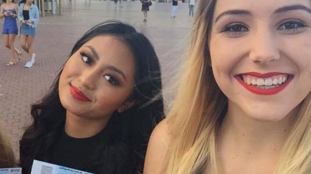 Katie Stopher (right) and Karla Del Rosario at The Vamps concert.