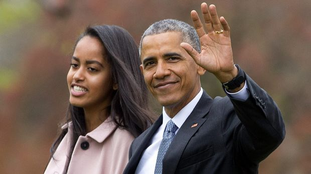 Malia with her dad at the White House last year.