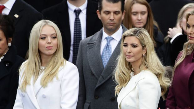 President Donald Trump's daughters, Tiffany (left) and Ivanka.
