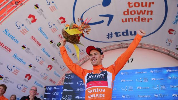 Richie Porte, pictured here at the Tour Down Under in January, is in good form going into next month's Tour de France.