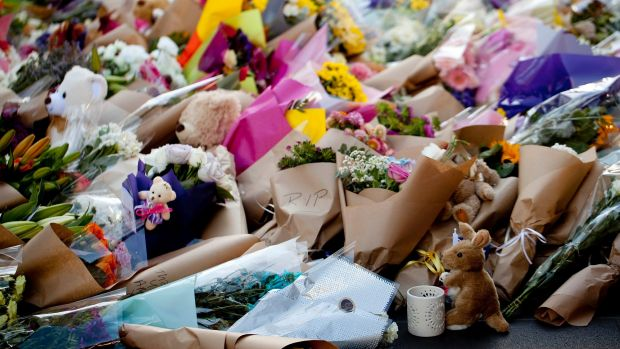 Mourners paid tribute to those killed in the Bourke Street Mall on Friday.