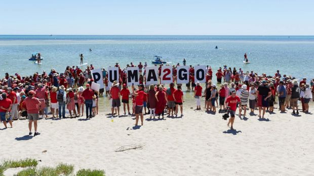 Hundreds of people rallied against a proposed petrol station in Dunsborough.
