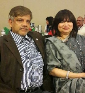 Canberrans Mohammad Hussain and wife Bazlun Bilkis.