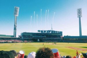 Fireworks at the WACA during the a BBL semi-final