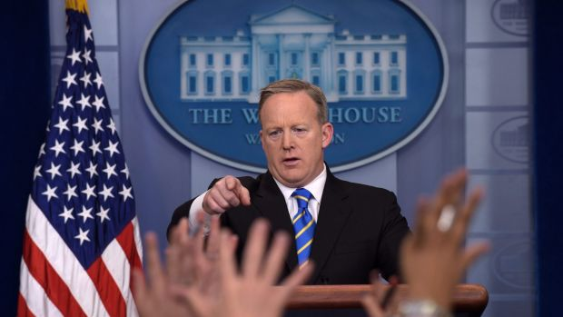 White House Press Secretary Sean Spicer wrongly claimed that Donald Trump had attracted 'the largest audience to ever ...