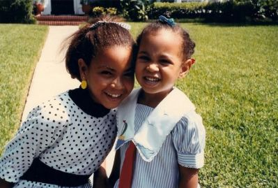This picture of a pint-sized Beyoncé and Solange Knowles was released to coincide with the sisters' Interview magazine ...