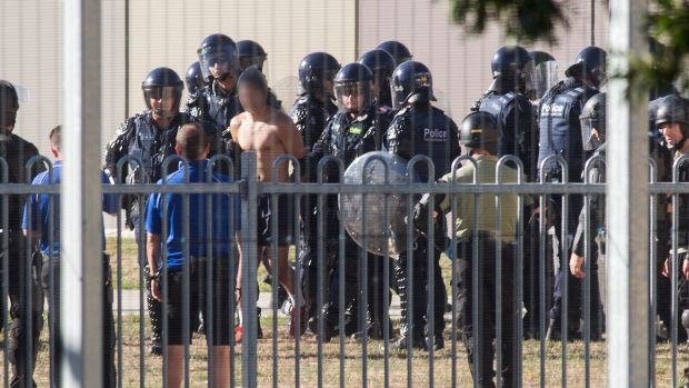 Police in riot gear regained control of the Malmsbury facility after the January riots.