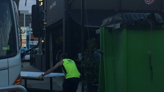 Fittings were taken out of the Autolyse cafe in Braddon on Wednesday evening after it was closed down earlier in the ...