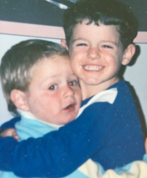 """""""Best friends from the start"""" is how mum Vicki Bensley describes her witty sons."""