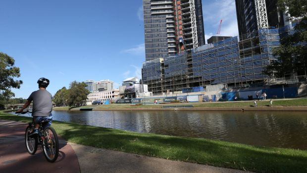 The proposed site of the Powerhouse Museum in Parramatta.