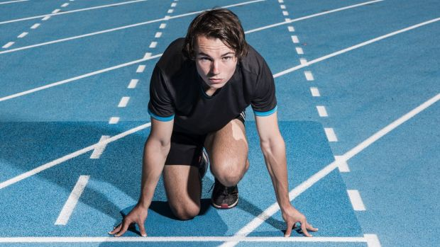 Get set, go: Teenage sprinter Jack Hale could be going head-to-head with Usain Bolt in the sprint relay on Thursday night.